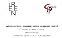 « Le Conseil de l'Europe face aux faits religieux » – Jean-Paul Willaime