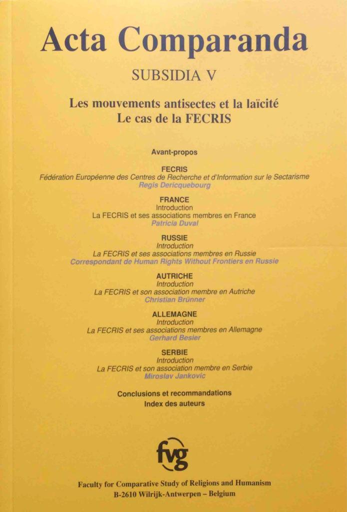 """Couverture de """"Acta comparanda"""" V"""