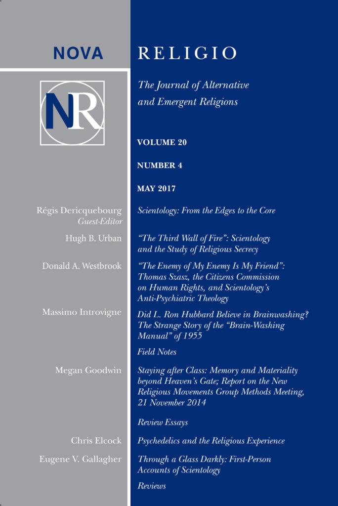 Couverture de Nova Religio - mai 2017