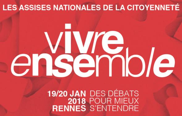 """19 janvier 2018 – Participation de Philippe Portier à """"Vivre ensemble / Les Assises nationales de la citoyenneté """""""