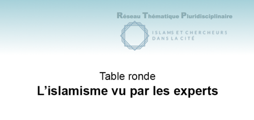 "Vendredi 30 novembre 2018 – Table ronde : ""L'islamisme vu par les experts"""