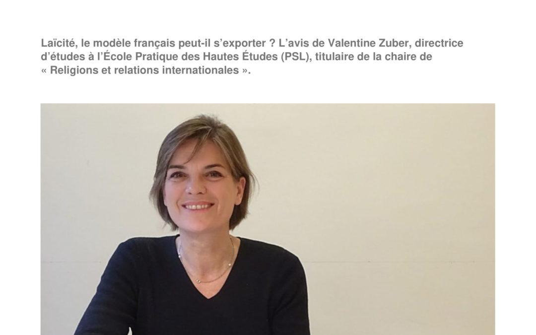"""Vendredi 28 juin 2019 – Valentine Zuber : """"Laïcité : la loi québécoise va plus loin que la doctrine française"""" et """"La laïcité est-elle exportable"""""""