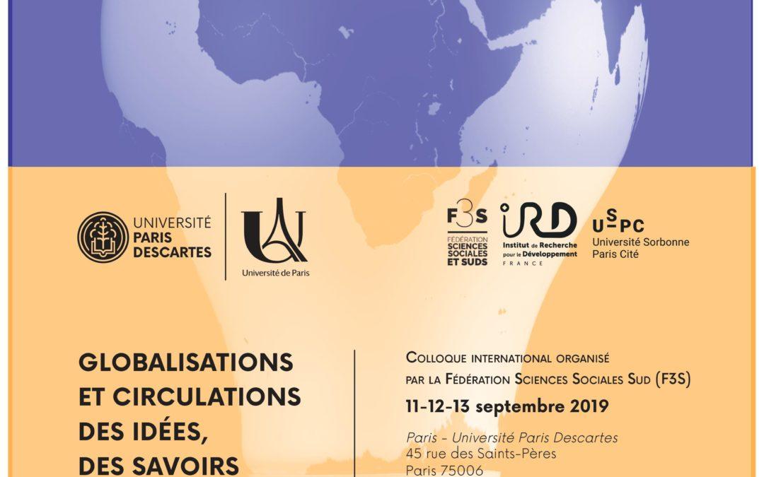 """11-12-13 Septembre 2019 – Colloque : """"Globalisations et circulations des idées, des savoirs et des normes"""""""