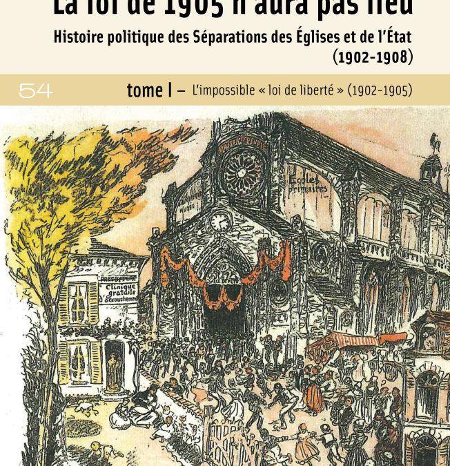 """Soirée de présentation """"La loi de 1905 n'aura pas lieu"""" de Jean Baubérot"""