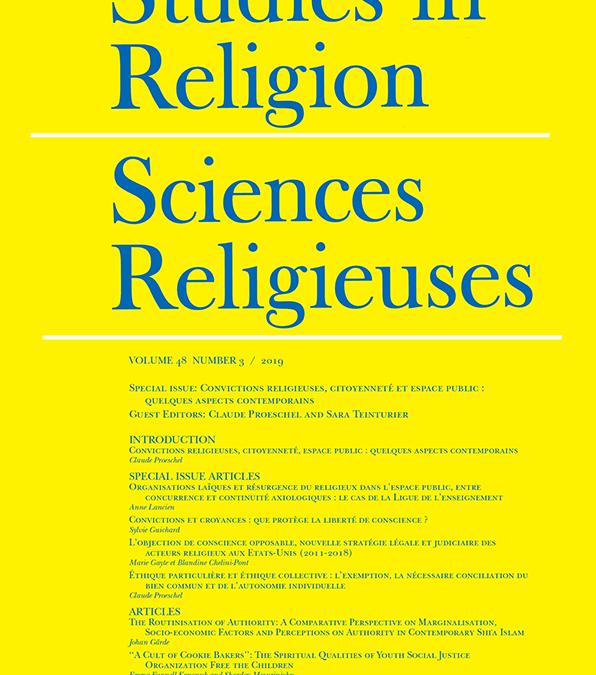 12 décembre 2019 – Sciences Religieuses vol. 48 n° 3 / 2019