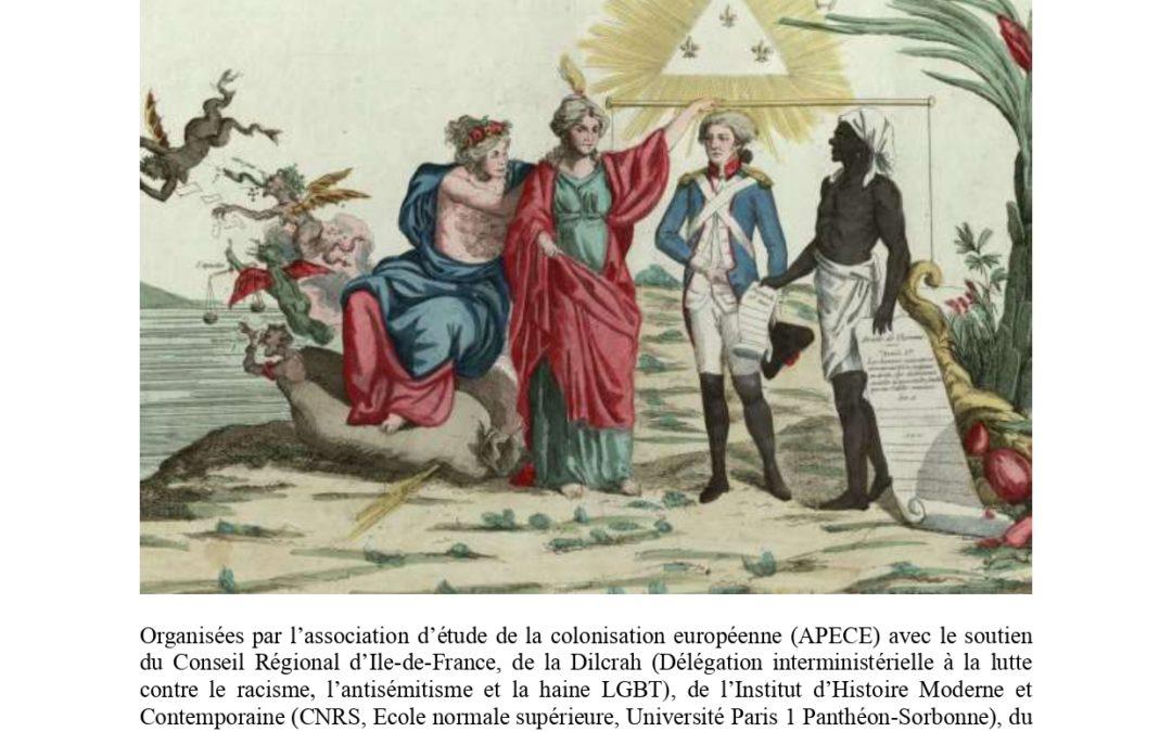 """24 et 25 janvier 2020 – Colloque international """"Race et sang dans les sources depuis le XVIIe siècle"""""""