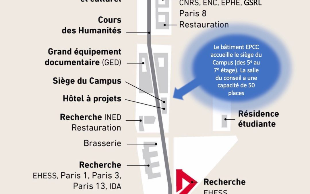 23 janvier 2020 – Plan d'accès au bâtiment EPCC du Campus Condorcet