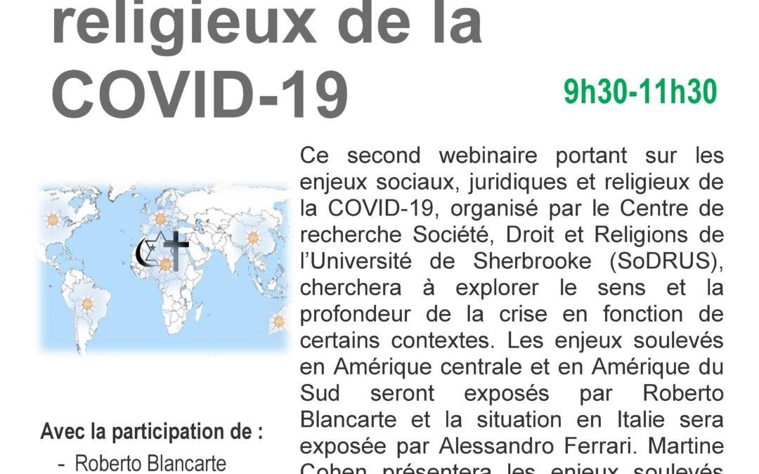 """12 mai 2020 – Séminaire en ligne : """"Les enjeux sociaux, juridiques et religieux de la COVID-19"""""""