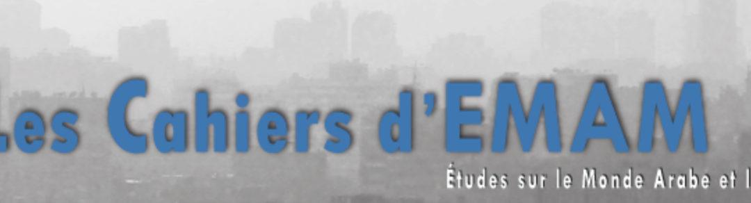 13 mai 2020 – Alexis Artaud de la Ferrière et Dominique Avon dans les Cahiers d'EMAM