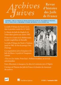 """Parution – """"Archives juives. Revue d'histoire des Juifs de France"""" 53/1"""