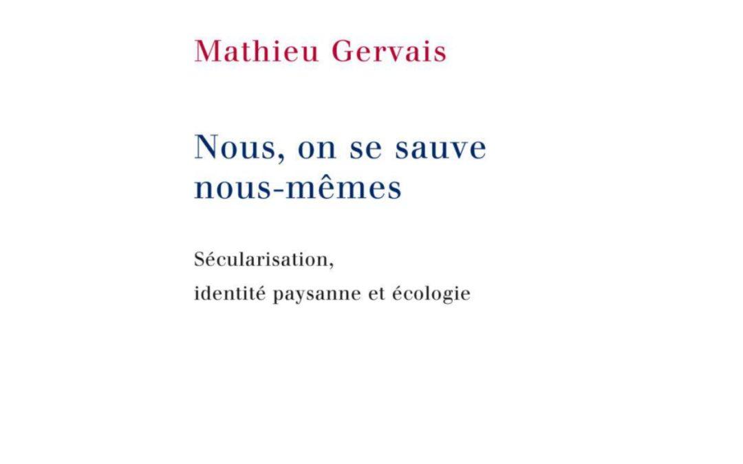 Parution – Mathieu Gervais – Mention spéciale du jury  du prix 2021 du premier livre, Chaire d'études sur le fait religieux, Science Po – Ceri