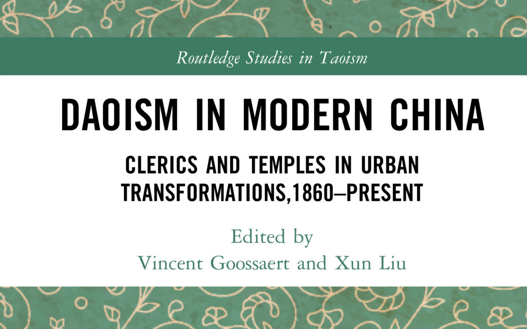 "Parution – Vincent Goossaert : ""Daoism in Modern China"""