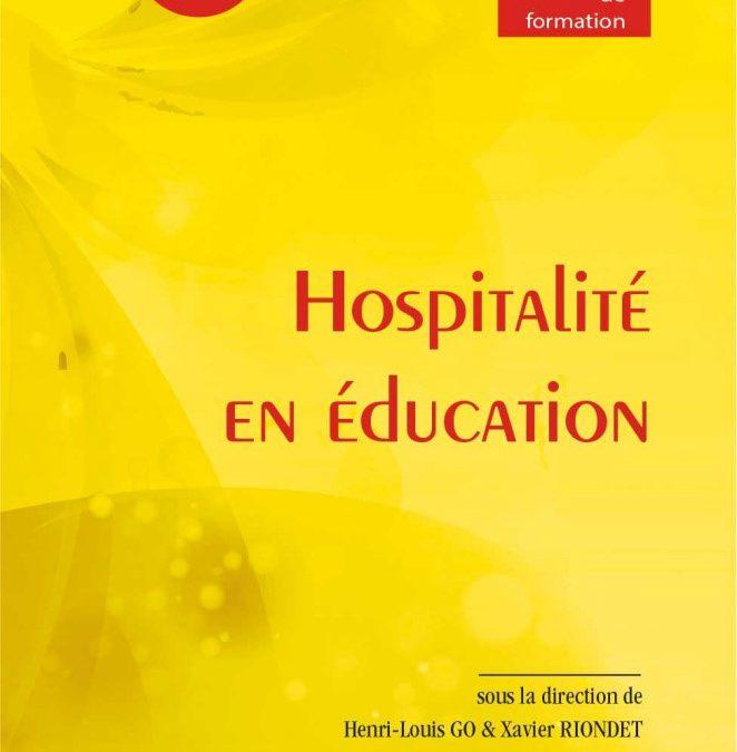 """Parution – Anne Ruolt dans """"Hospitalité en éducation"""""""
