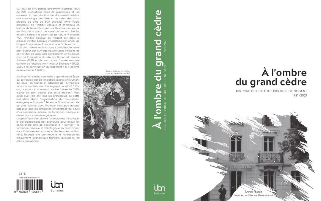 """Parution – Anne Ruolt : """"À l'ombre du grand cèdre"""""""